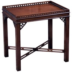 English Side or End Table of Mahogany in the Chippendale Style