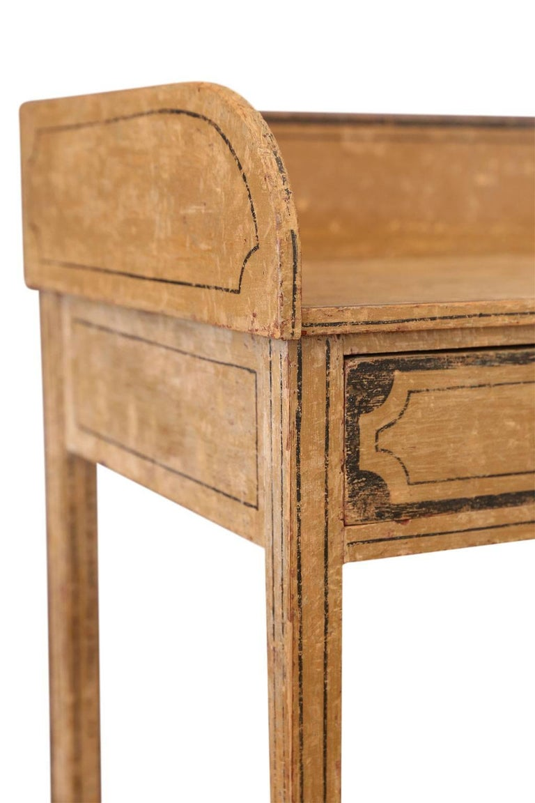 Wood English Side Table For Sale