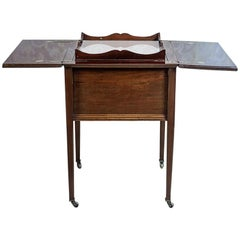 English Side Table with a Compartment, circa 1880