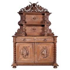 English Sideboard Furniture Henry II, 19th Century