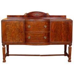 English Sideboard Mahogany Credenza Carved