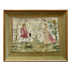 English Silk Needlework, 18th Century