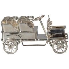 English Silver Car Cigar Holder