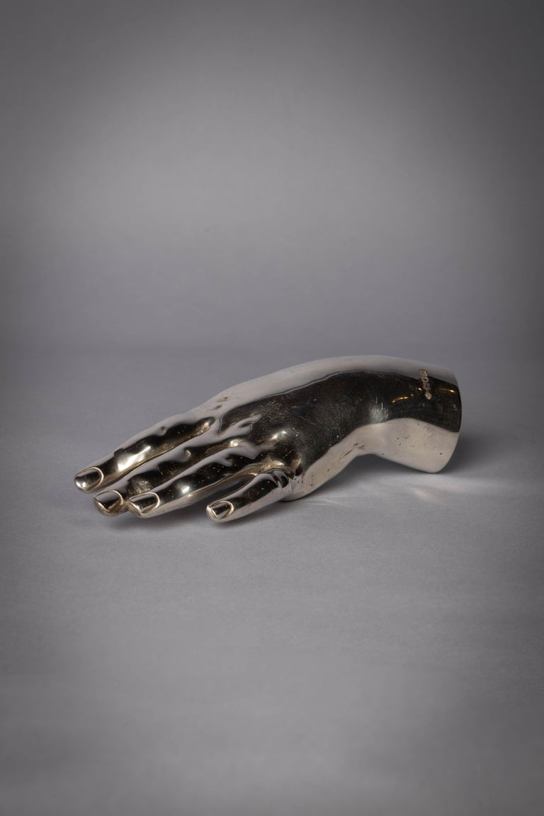 English silver hand, London, 1909. Maker: Henry and Albert Batsy.