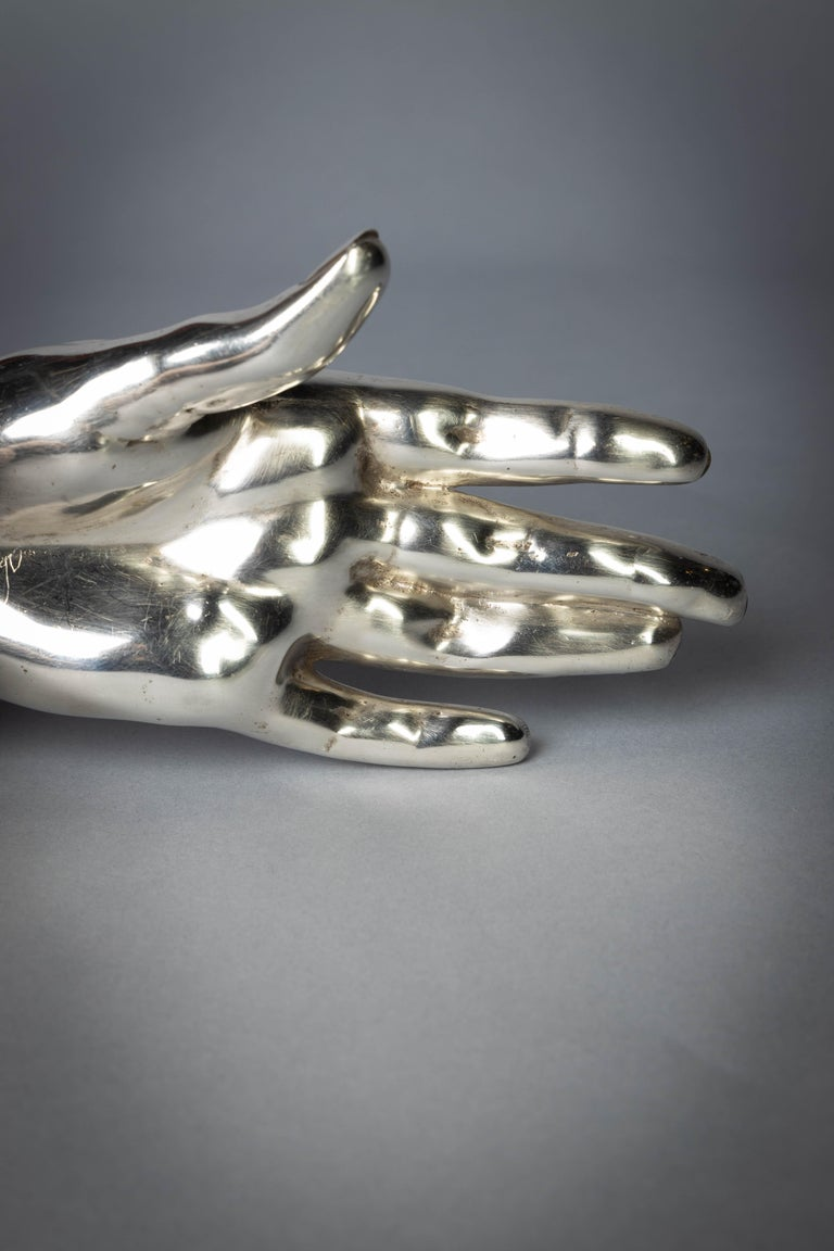 Early 20th Century English Silver Hand, London, 1909 For Sale