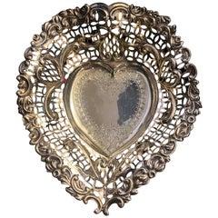 English Silver Heart Centerpiece