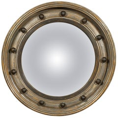 English Silver Leaf Bullseye Convex Mirror