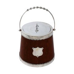 English Silver Plate Biscuit Barrel