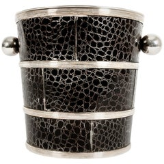 English Silver Plated Barware Crocodile Wine Cooler or Ice Bucket