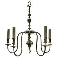 English Silver Plated Chandelier