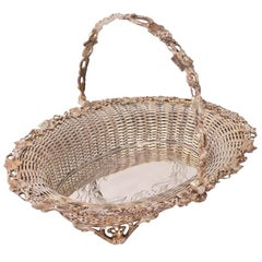 English Silver Plated Fruit Basket