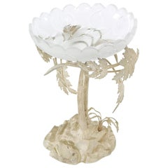 English Silver Plated Stand / Crystal Bowl Piece