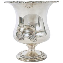 English Silver Plated Wine Cooler / Side Handles