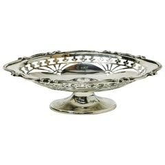 English Silver Small Basket by Martin, Hall & Co. Sheffield, 1910