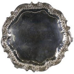 English Silver Three Footed Salver