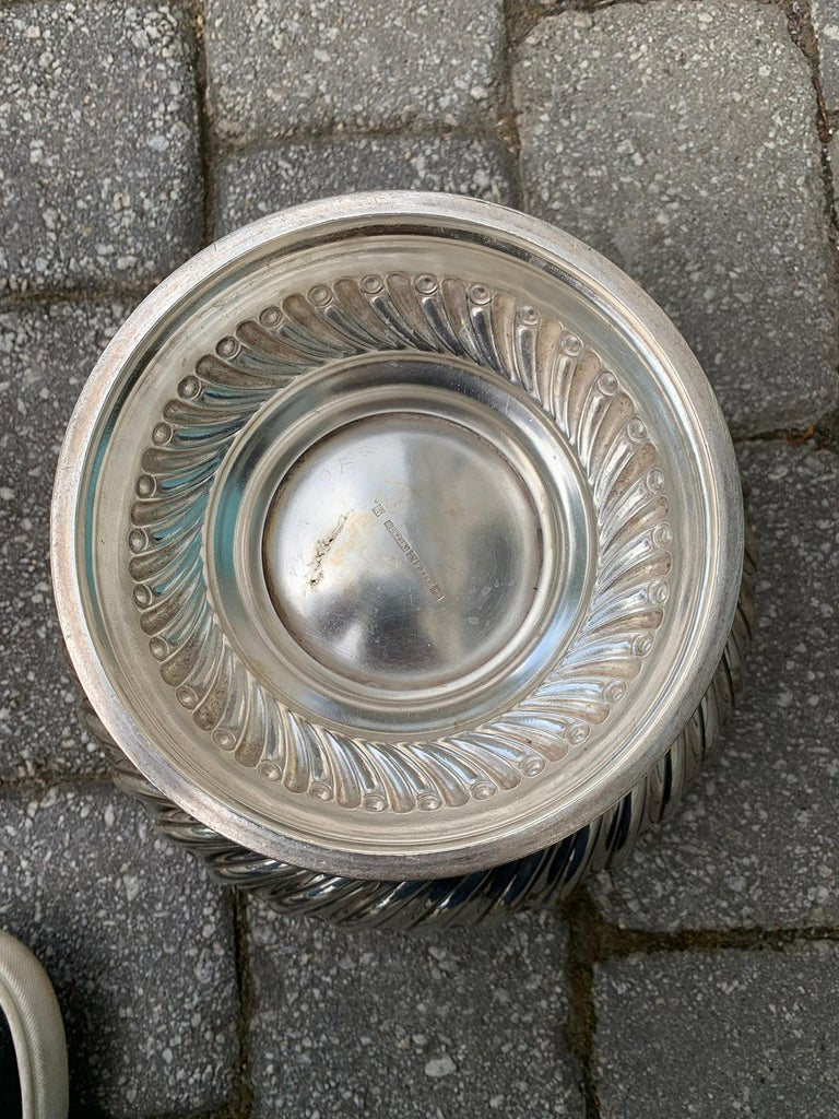 English Silvered Punch Bowl/Centerpiece by Mappin & Webb, circa 1930s For Sale 4