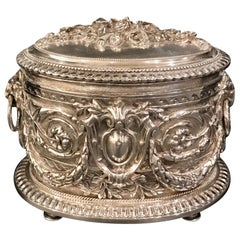 English Silverplated Ornate Table Box by Hukin and Heath