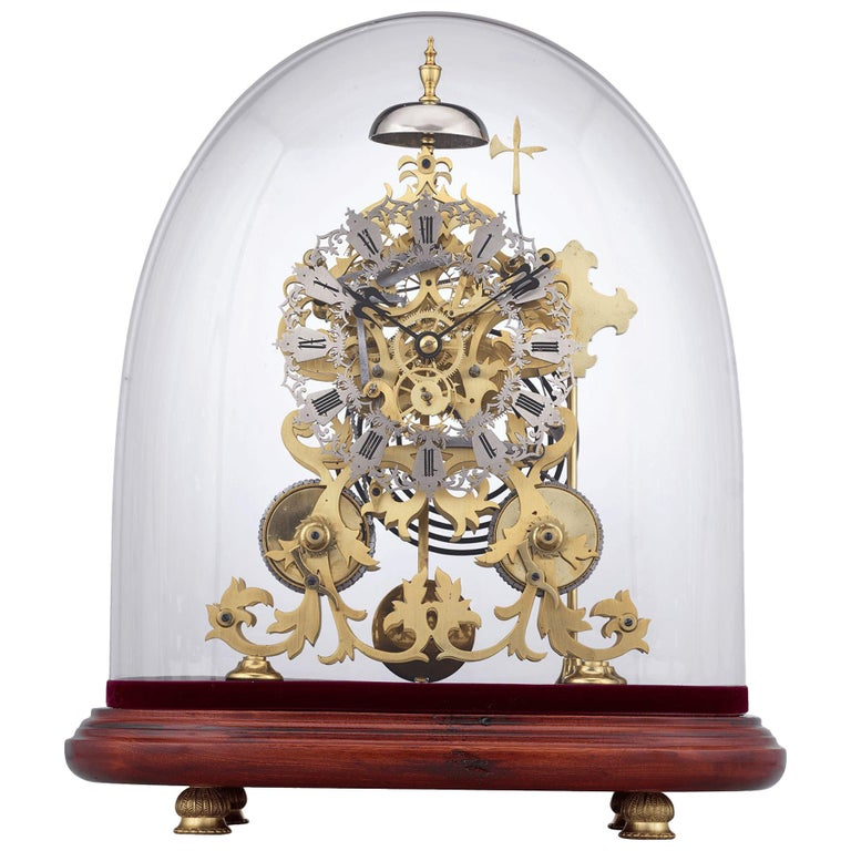 English Skeleton Clock by J. Smith & Sons of Clerkenwell For Sale