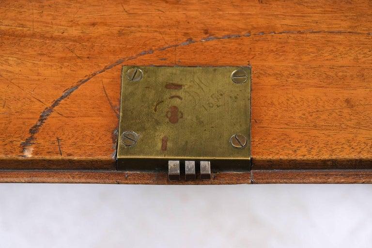 English Slant Front Secretary Desk, circa 1820s For Sale 7