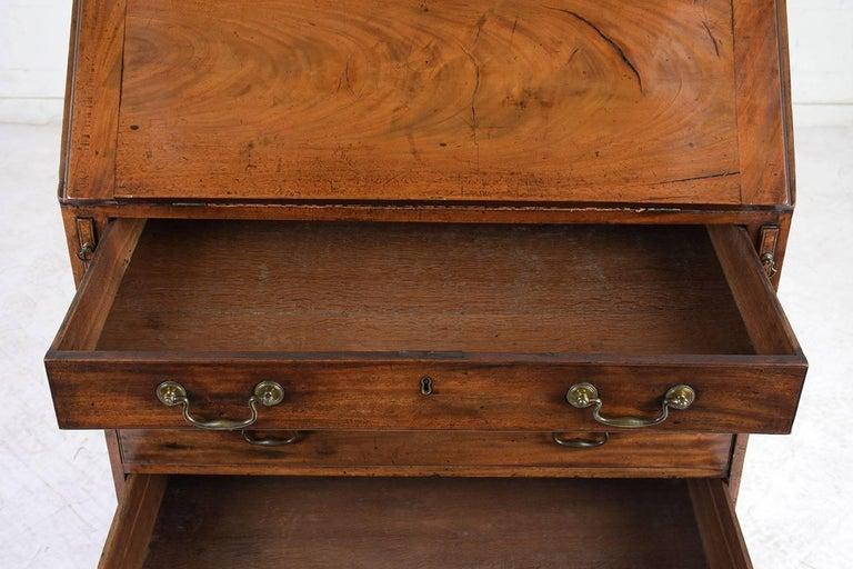English Slant Front Secretary Desk, circa 1820s For Sale 8