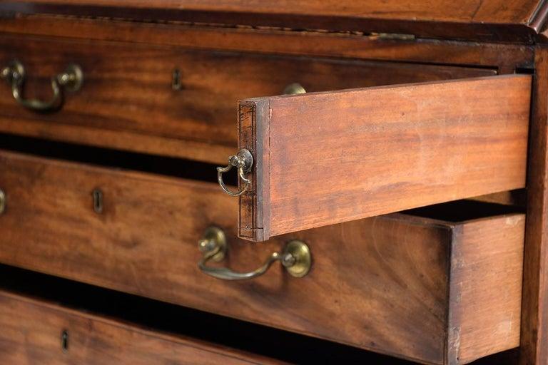 English Slant Front Secretary Desk, circa 1820s For Sale 10