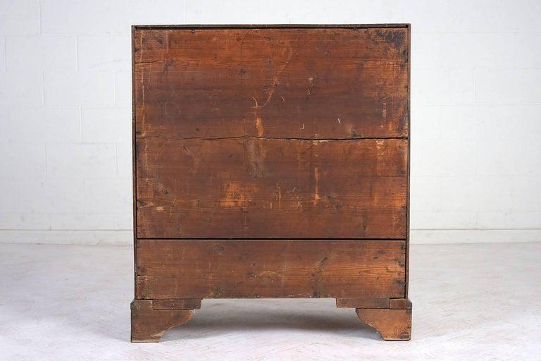 English Slant Front Secretary Desk, circa 1820s For Sale 12