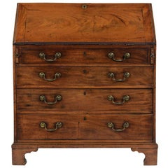English Slant Front Secretary Desk, circa 1820s