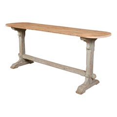 English Sofa / Trestle Table