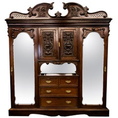 English Solid Mahogany Armoire