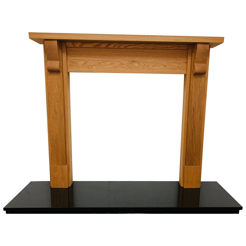 English Solid Oak Timber Fireplace Mantelpiece