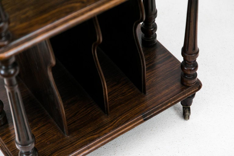 English Solid Rosewood Four-Tiered Shelf For Sale 1