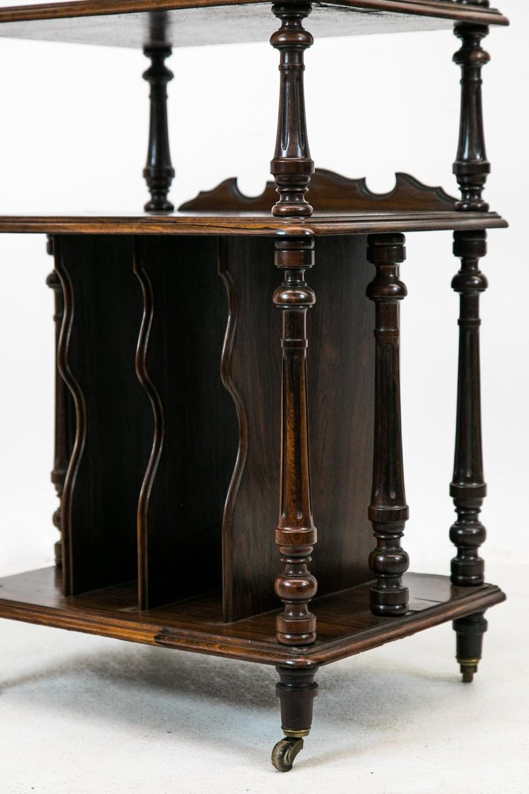 English Solid Rosewood Four-Tiered Shelf For Sale 2