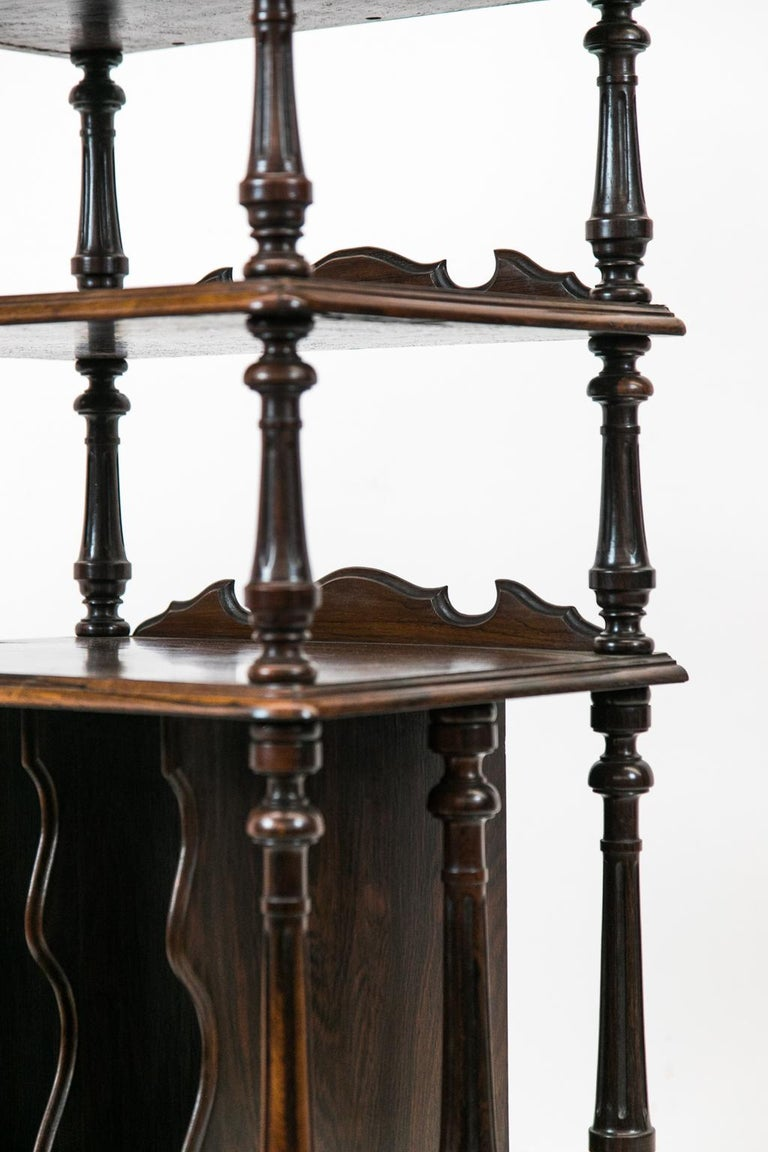 English Solid Rosewood Four-Tiered Shelf For Sale 3