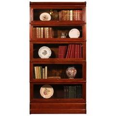 English Stacking Bookcase in Mahogany Globe Wernicke Elements, Late 19 Century