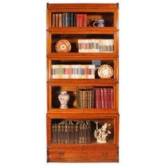 English Stacking Bookcase in Oak 5 Large Elements Starting, 20th Century