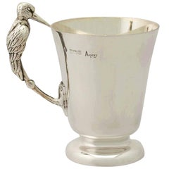 English Sterling Silver Christening Mug
