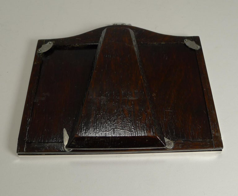 Early 20th Century English Sterling Silver Double Photograph / Picture Frame, 1921 For Sale