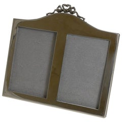 English Sterling Silver Double Photograph / Picture Frame, 1921