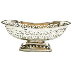 English Sterling Silver fruit basket by James Deakin & Sons, 1928