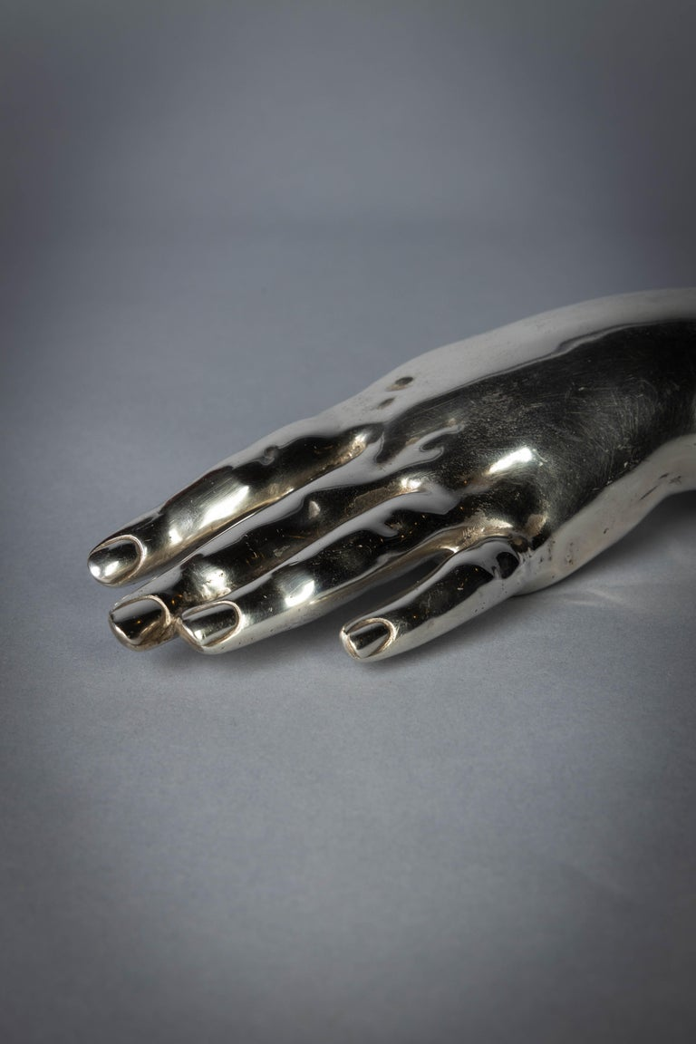 English Sterling Silver Hand In Excellent Condition For Sale In New York, NY