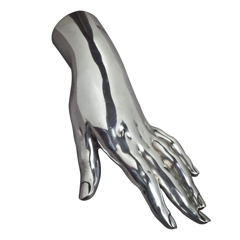 English Sterling Silver Hand For Sale