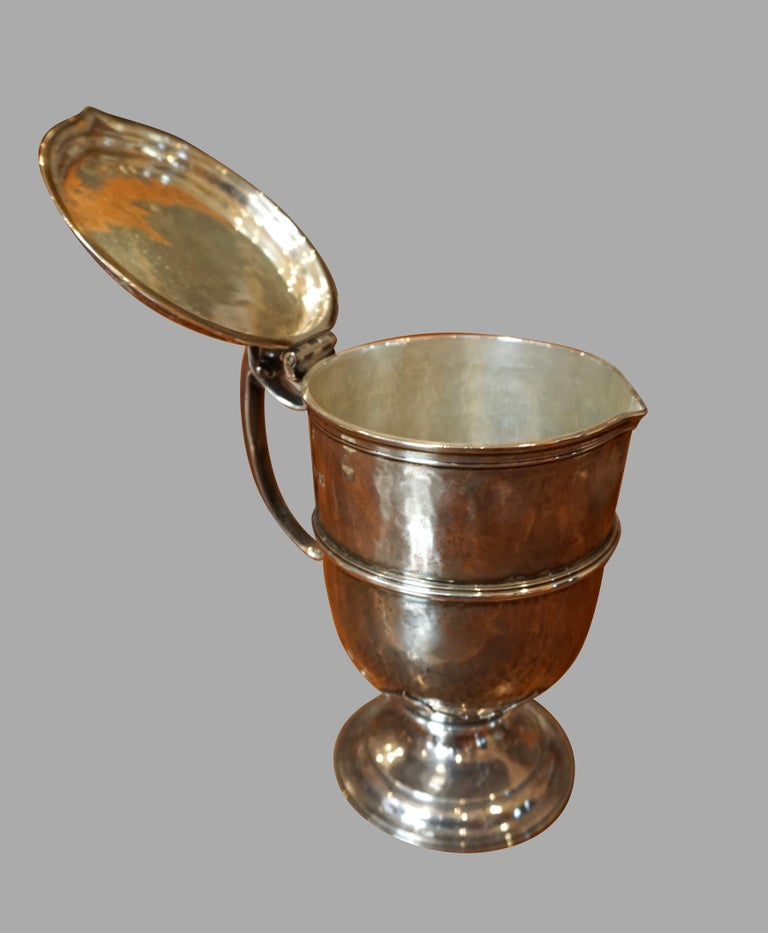 Georgian English Sterling Silver Lidded Cup after the Maundy Ewer For Sale