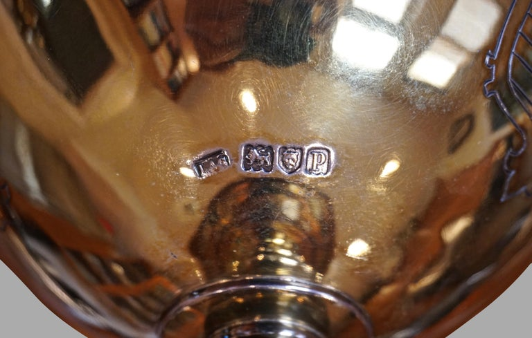 20th Century English Sterling Silver Lidded Cup after the Maundy Ewer For Sale