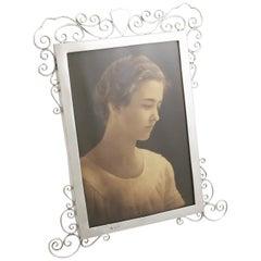 English Sterling Silver Photograph Frame Edwardian 1903