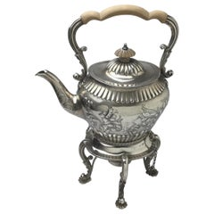 English Sterling Tip Kettle by Mappin & Web, London, 1893-1895