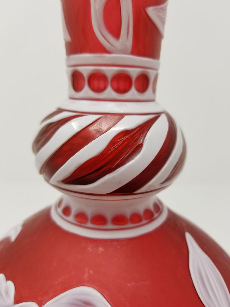 English Stevens & Williams Cameo Overlay Glass Vase by J. Millward, Birks Museum In Excellent Condition For Sale In New York, NY
