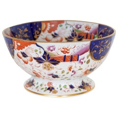 English Stone China Footed Punch Bowl