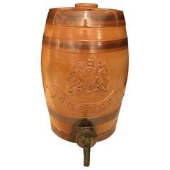 English Stoneware Antique Spirit Sherry Barrel