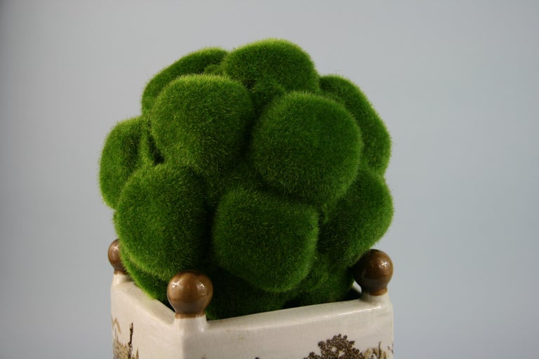 English Stoneware Garden Topiary In Good Condition For Sale In Douglas Manor, NY