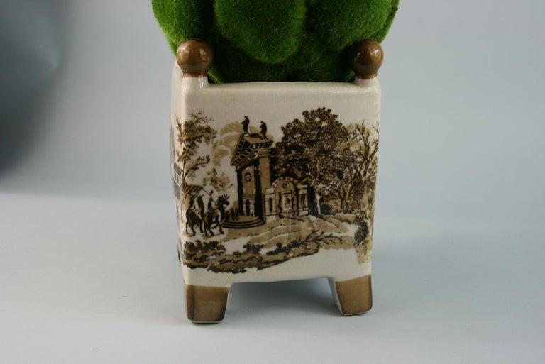 Ceramic English Stoneware Garden Topiary For Sale